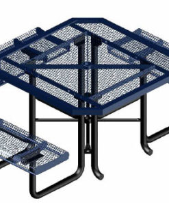 Rolled Heavy Duty Picnic Table - Octagon - Portable