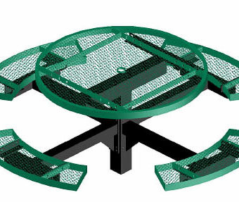 Regal Picnic Table - Round - Pedestal