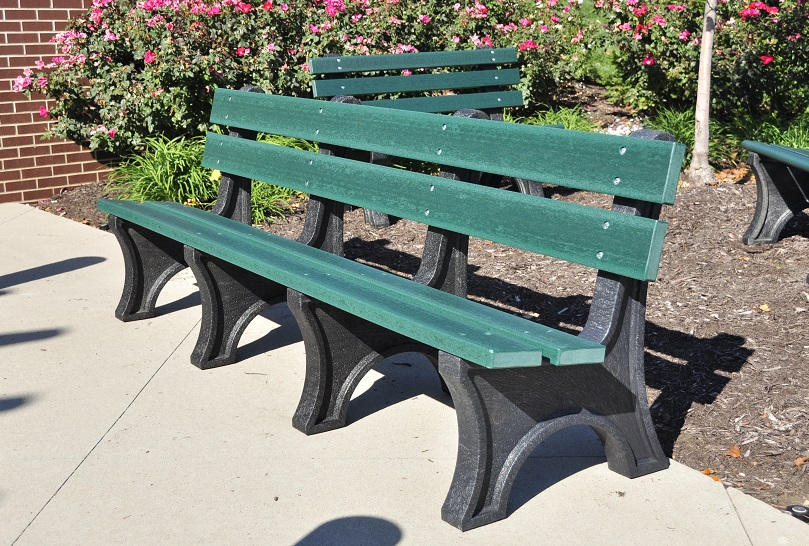 Colonial Recycled Plastic Bench Park Warehouse