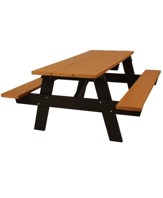 A Frame Recycled Plastic Picnic Table Park Warehouse