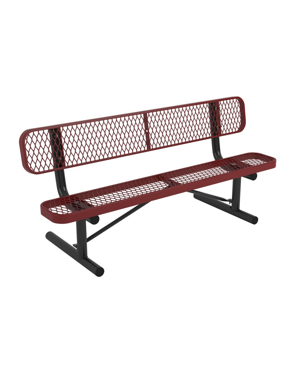 Standard expanded metal bench park warehouse Aluminum benches