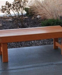 Backless Garden Recycled Plastic Bench