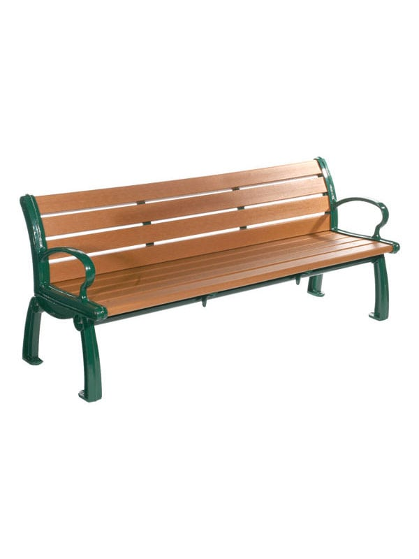 Heritage Backless Recycled Plastic Bench Park Warehouse