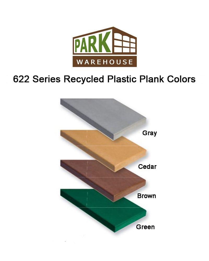 Recycled Plastic Bench Richmond Series Premium