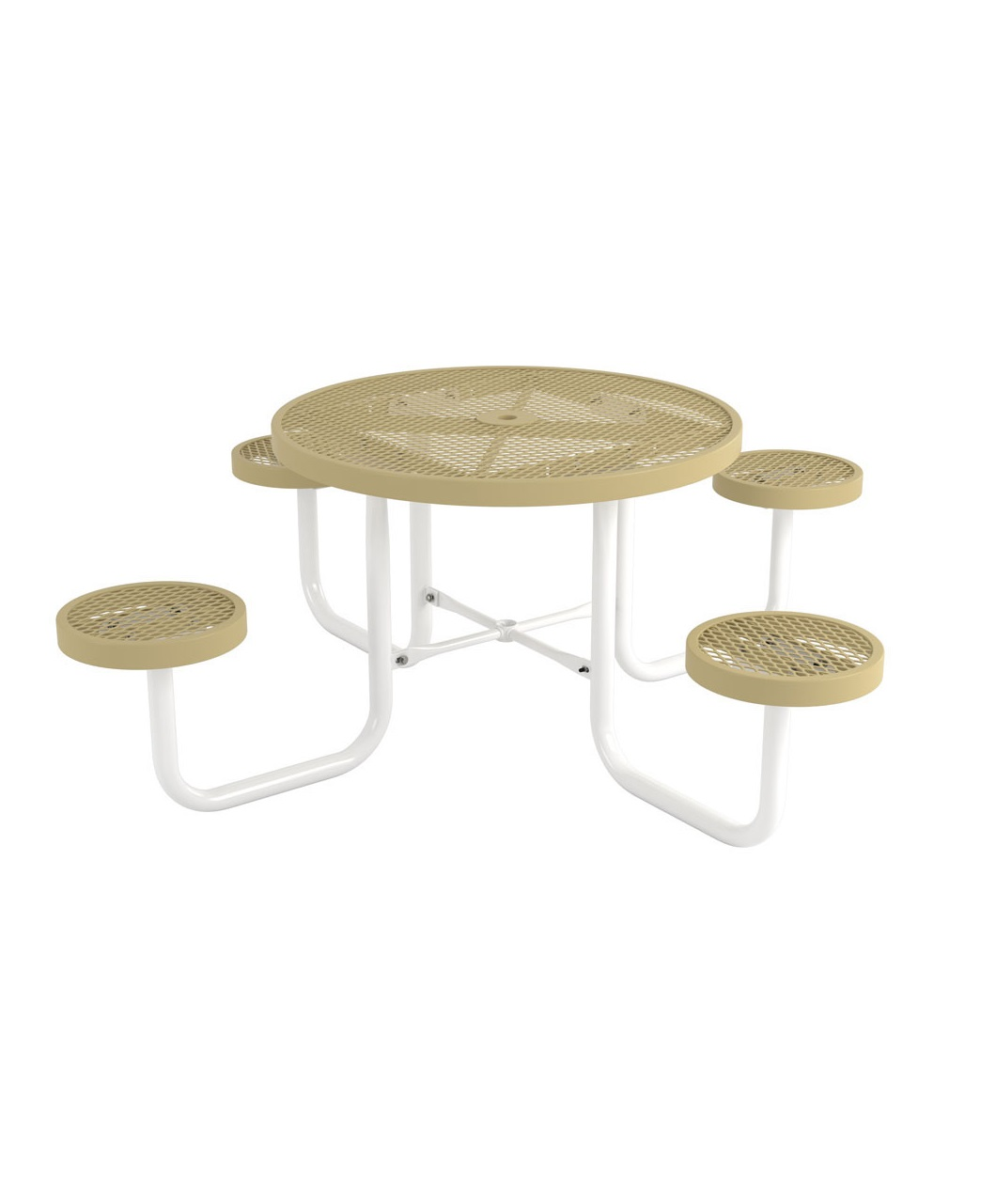 Canteen Style Round Café Table Park Warehouse - Round metal cafe table