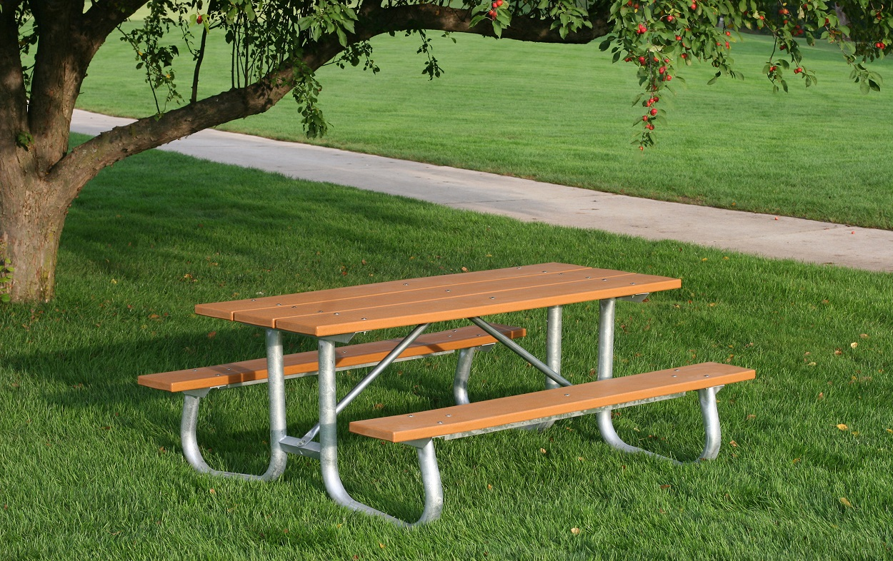 Rectangular Recycled Plastic Picnic Table With Heavy Duty