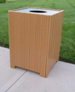 Square Trash Receptacles