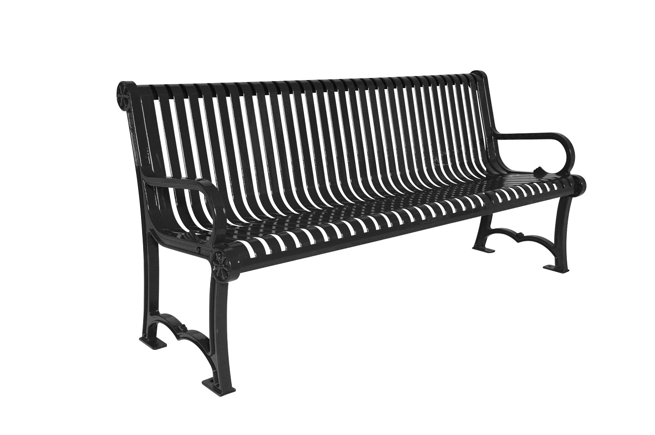 Charleston Series Bench With Back Park Warehouse