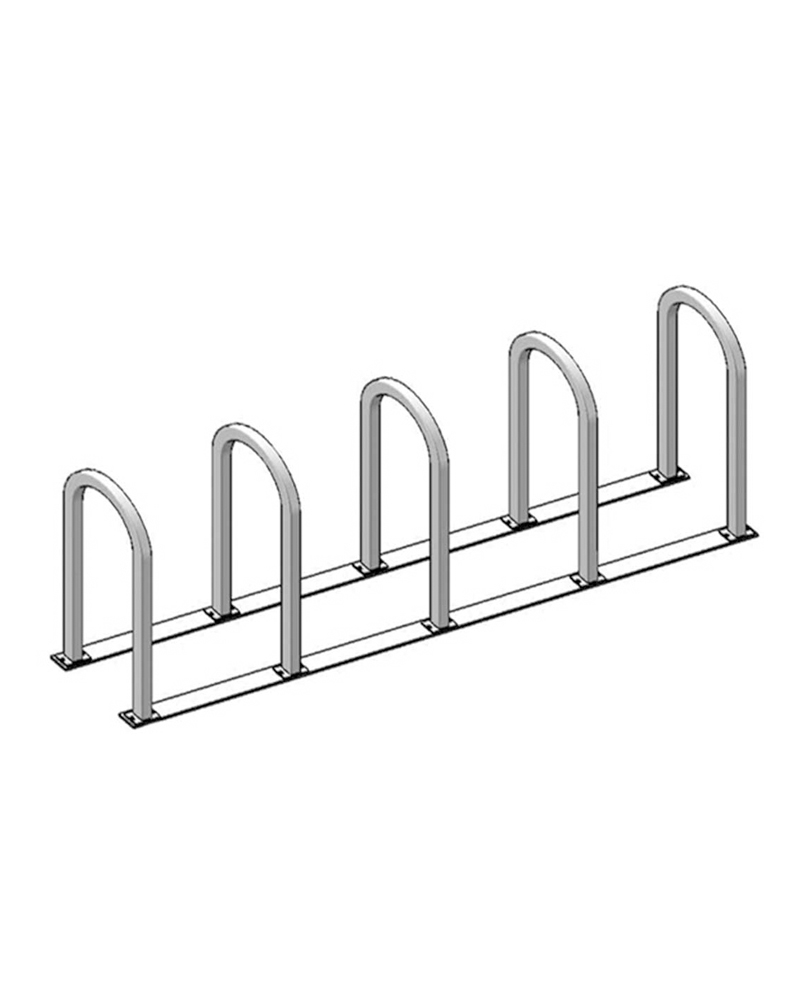 Inverted U Bike Rack on Rails %E2%80%93 2%E2%80%B3 Square Tube 622br130 inverted u bike rack on rails 2\