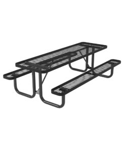 L Series Expanded Metal Picnic Table - Rectangle T8L