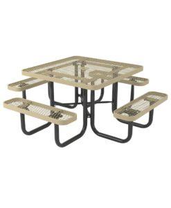 L Series Expanded Metal Picnic Table - Square-T46L