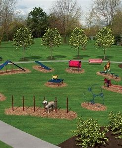 Expert Dog Park Kit shown in Red & Blue