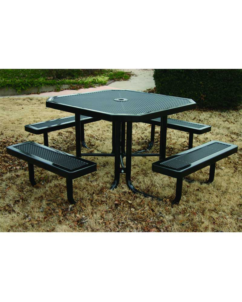 Innovated picnic table octagon portable park warehouse - Fabriquer table picnic ...