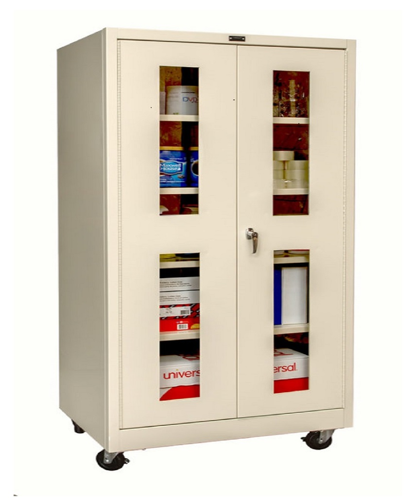 400 Series Mobile Sv Storage Cabinet Double Safety View Door Park Warehouse