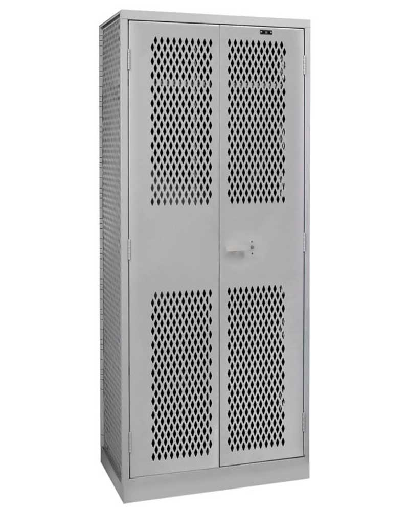 Hallowell Ta50 Equipment Storage Locker Single Tier Double Door Park Warehouse