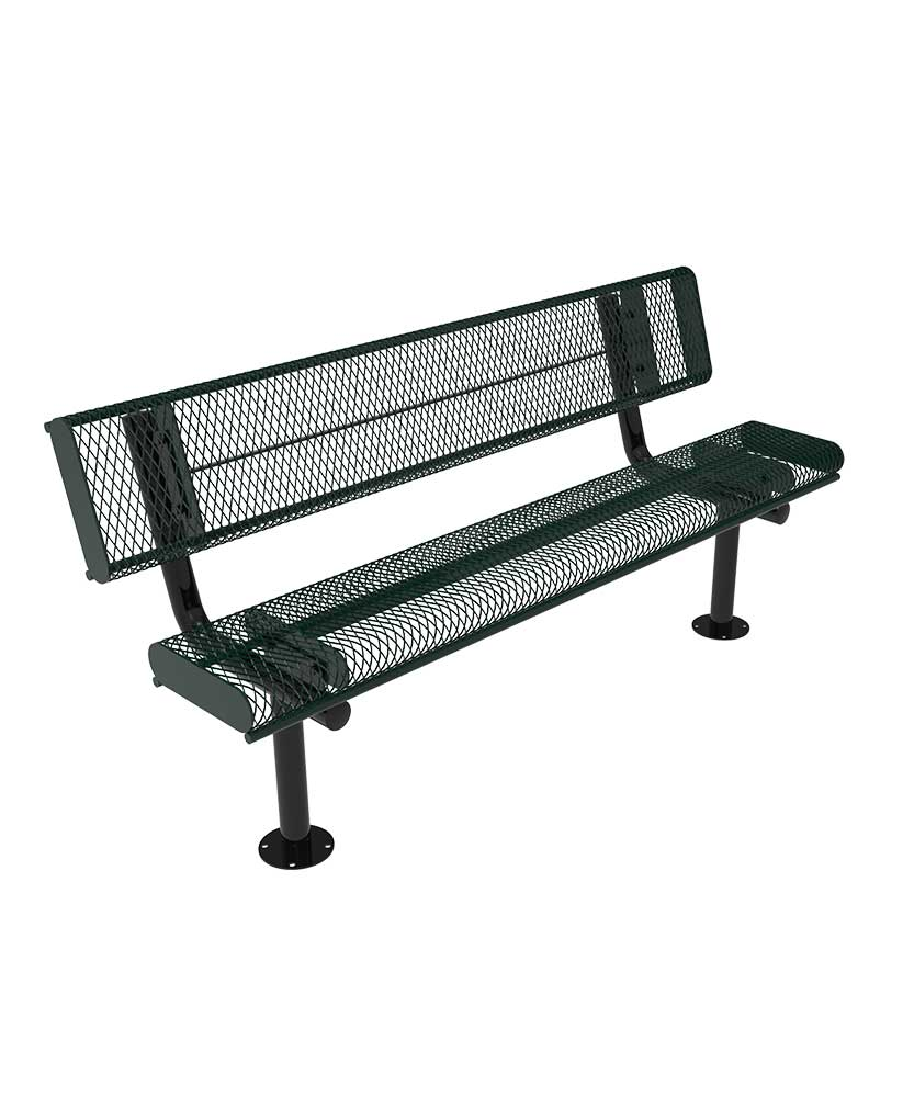 Awesome Rolled Edge Park Bench With Back Parktastic Park Warehouse Ibusinesslaw Wood Chair Design Ideas Ibusinesslaworg