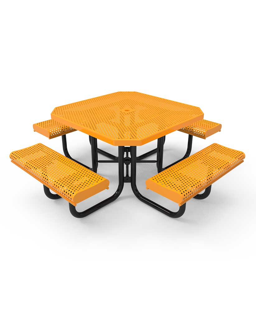 Picnic Table ParkTastic Octagon Rolled Accessible 3 Seat