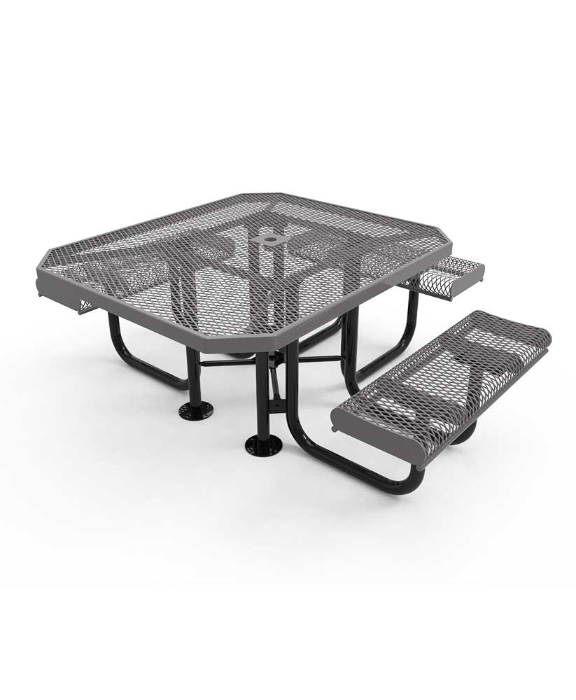 46 octagon portable picnic table with rolled edges. Black Bedroom Furniture Sets. Home Design Ideas
