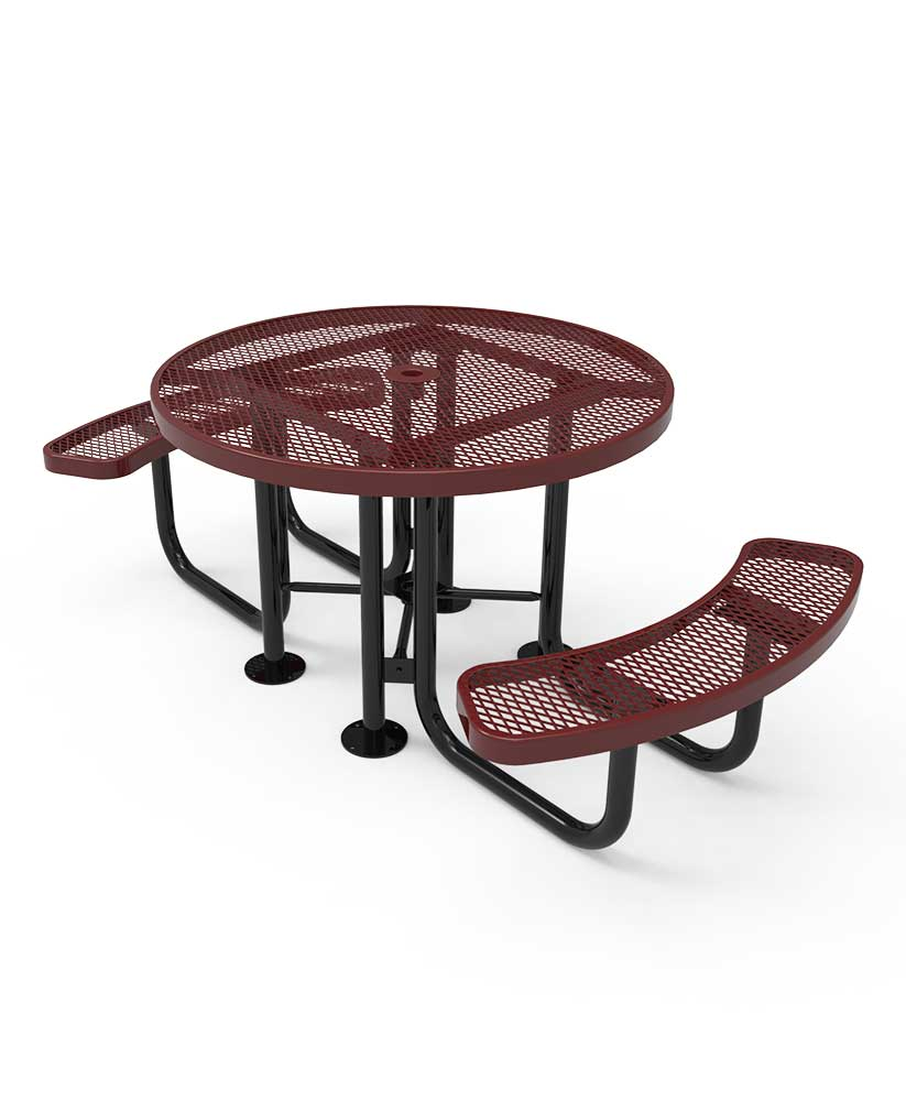 46 round portable picnic table parktastic park warehouse. Black Bedroom Furniture Sets. Home Design Ideas