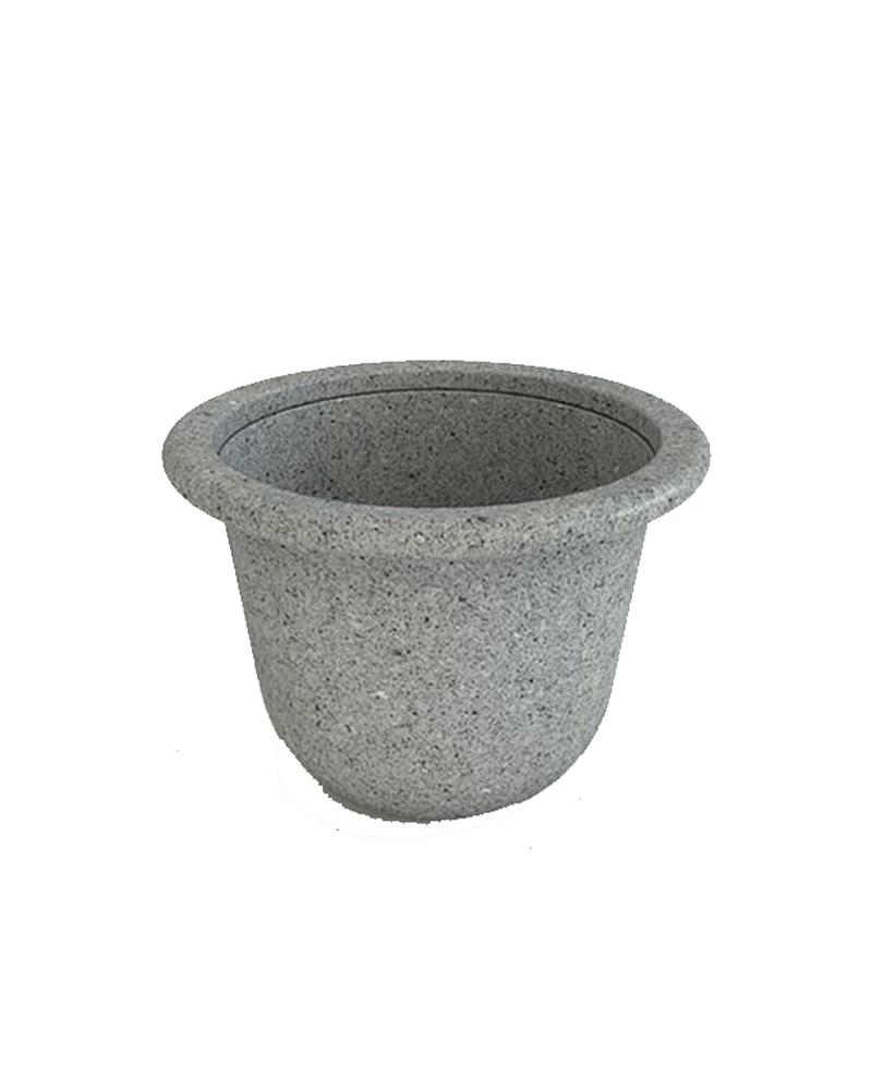 Contemporary Round Polymer Resin Planter Premium
