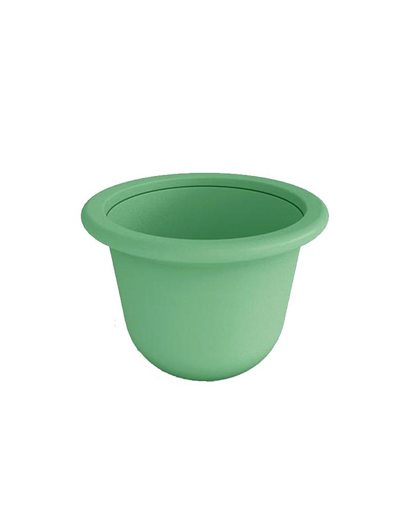 Contemporary Round Polymer Resin Planter Standard