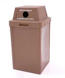 Plastic Trash Receptacles