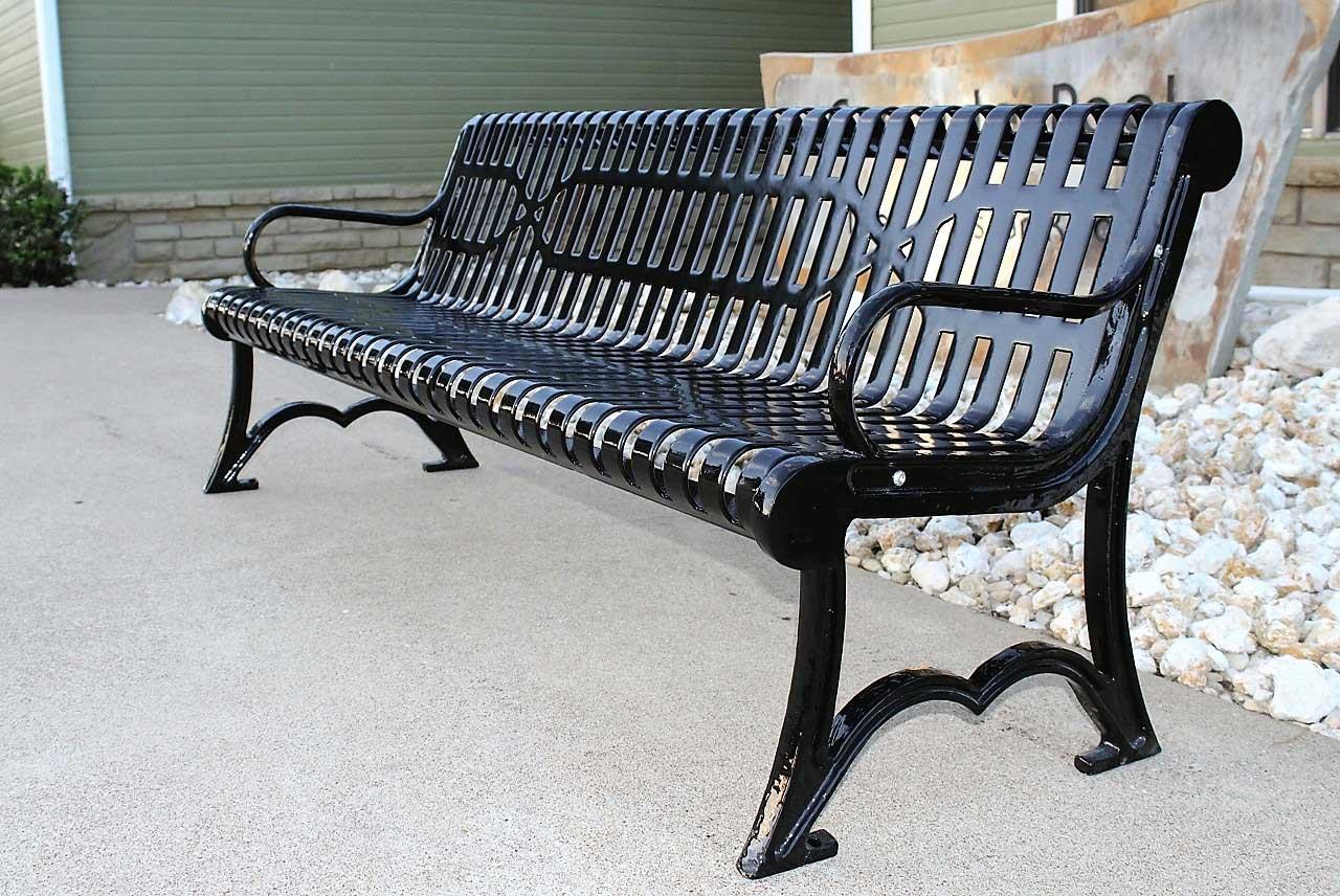 Brilliant Austin Heavy Duty Outdoor Metal Bench Parktastic Park Warehouse Customarchery Wood Chair Design Ideas Customarcherynet