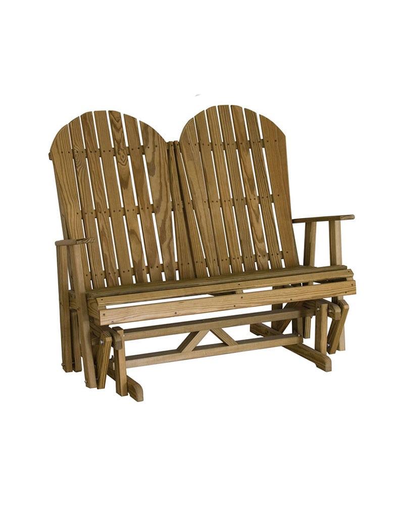 Adirondack Glider Chair 4ft Micro Pressure Treated Wood Park