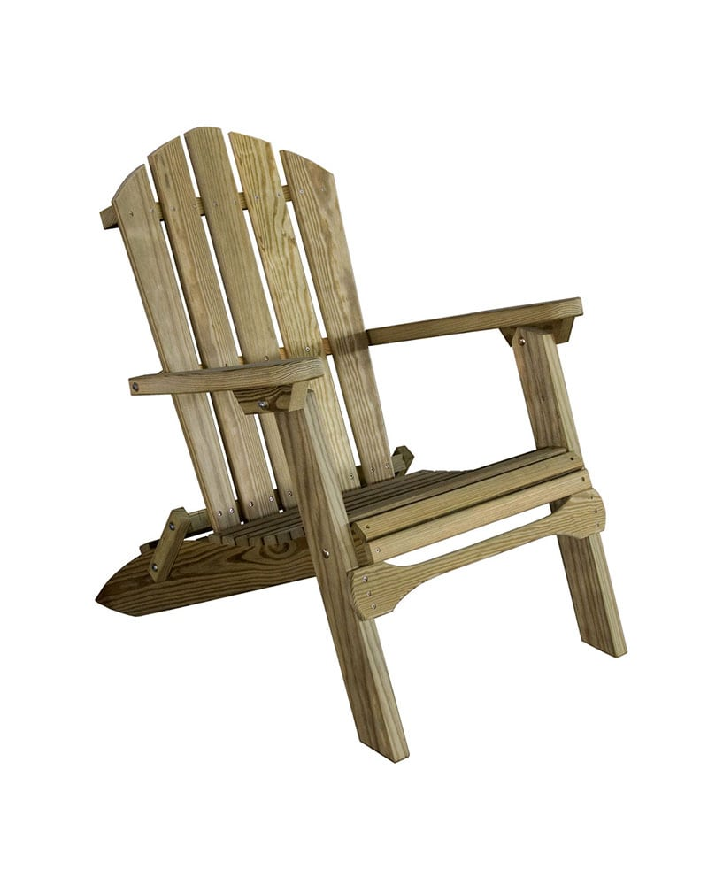 Folding Adirondack Chair U2013 Micro Pressure Treated Wood
