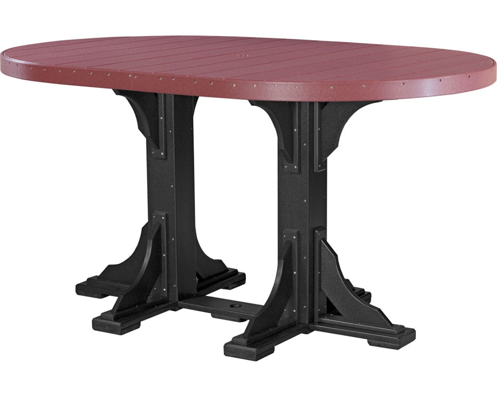 Oval table 4ft x 6ft table top high density for Table 6 feet
