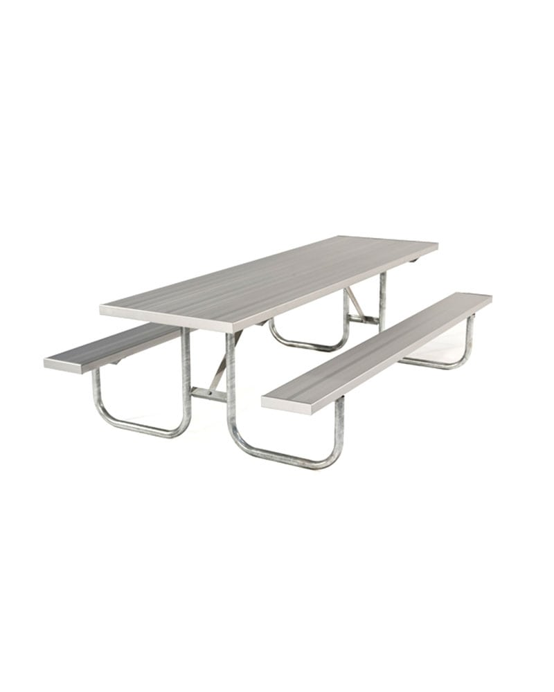 ADA Compliant Aluminum Picnic Table With Galvanized Steel Frames - Ada picnic table requirements