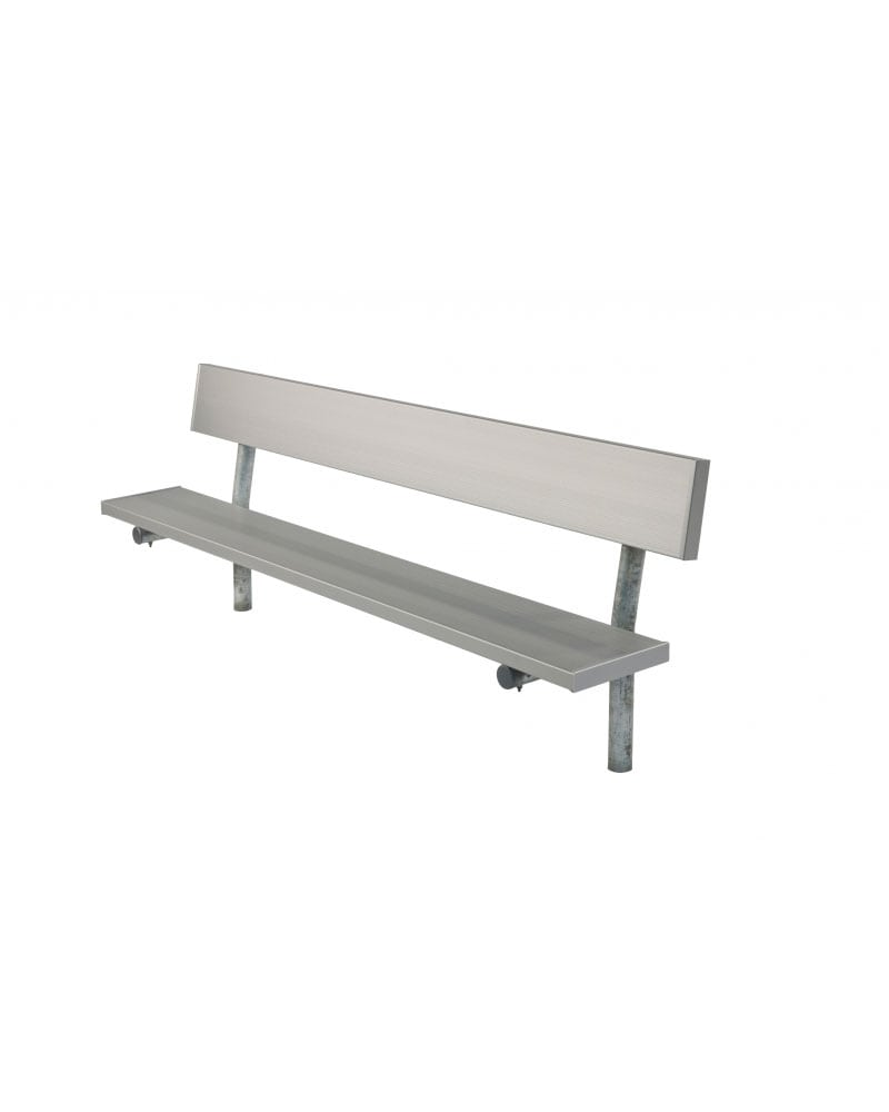 Aluminum Player\'s Bench with Back and Galvanized Frame - In-Ground ...