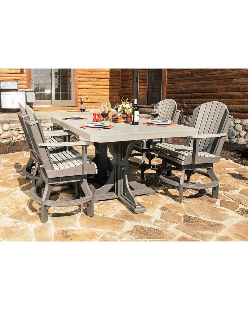 Rectangular Table Set U2013 4ft X 6ft Table Top With 4 Chairs U2013 High Density  Polyethylene