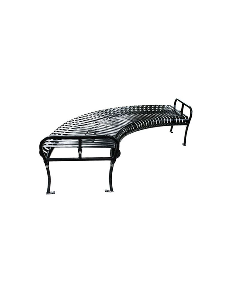 Premier Circular Bench Backless Slatted Metal Park Warehouse