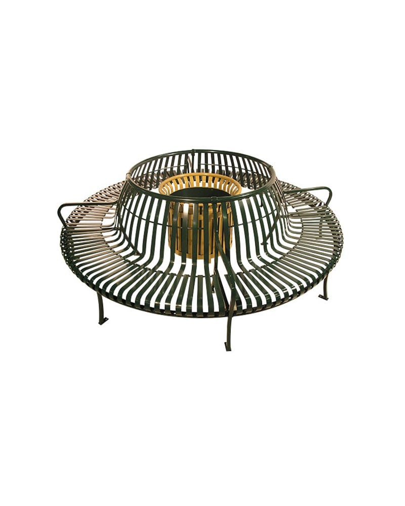 Swell Premier Circular Tree Bench With Back Slatted Metal Creativecarmelina Interior Chair Design Creativecarmelinacom