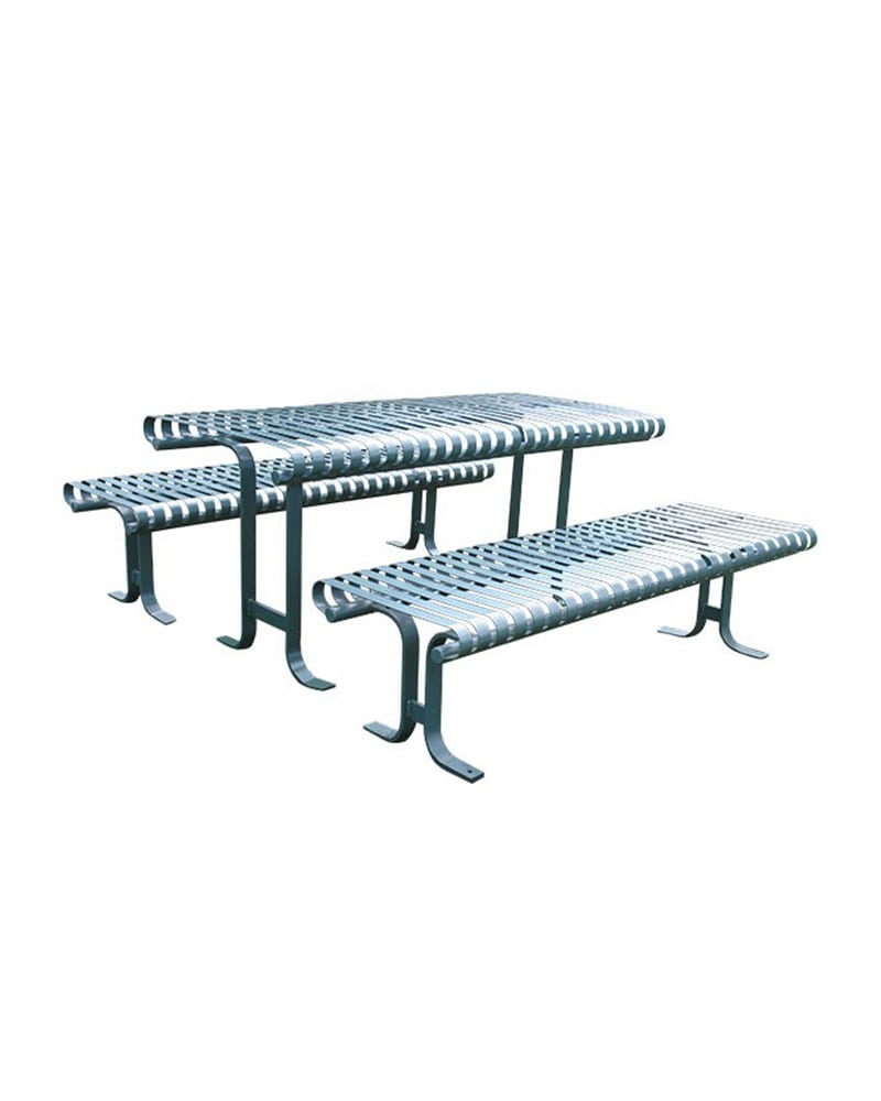 Serenity Series Picnic Table Park Warehouse - Stainless steel picnic table