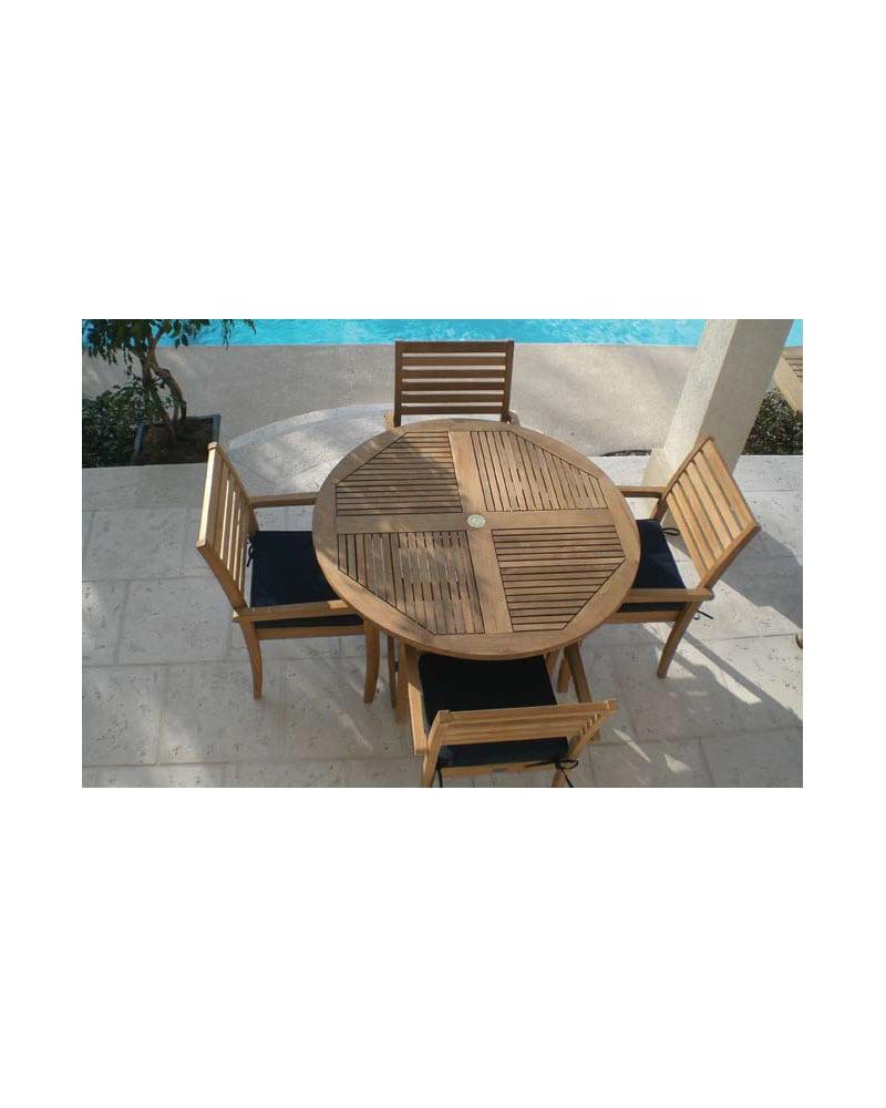 Fantastic 47 Sailor Folding Table Set Round Wooden Teak Wood Bralicious Painted Fabric Chair Ideas Braliciousco