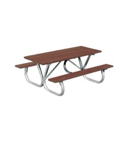 8ft   Extra Heavy Duty   Picnic Table   W/ Bolt Thru Frame   Rectangular    Wooden