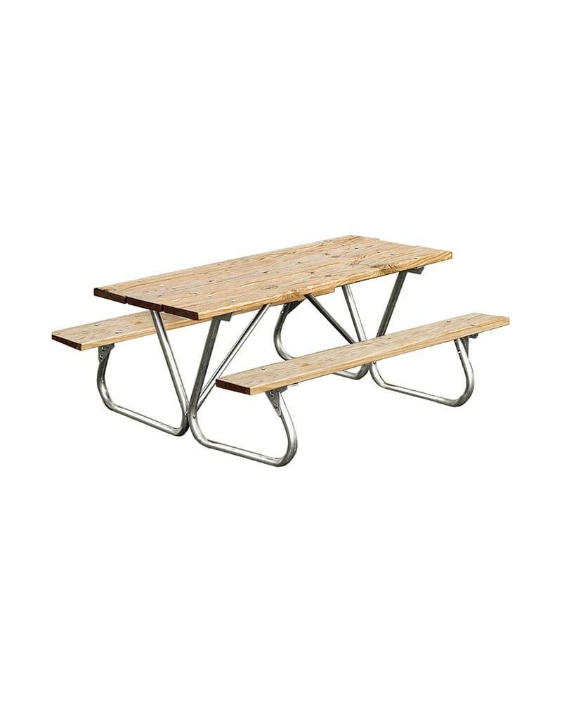 8ft Heavy Duty Picnic Table W Bolt Thru Frame
