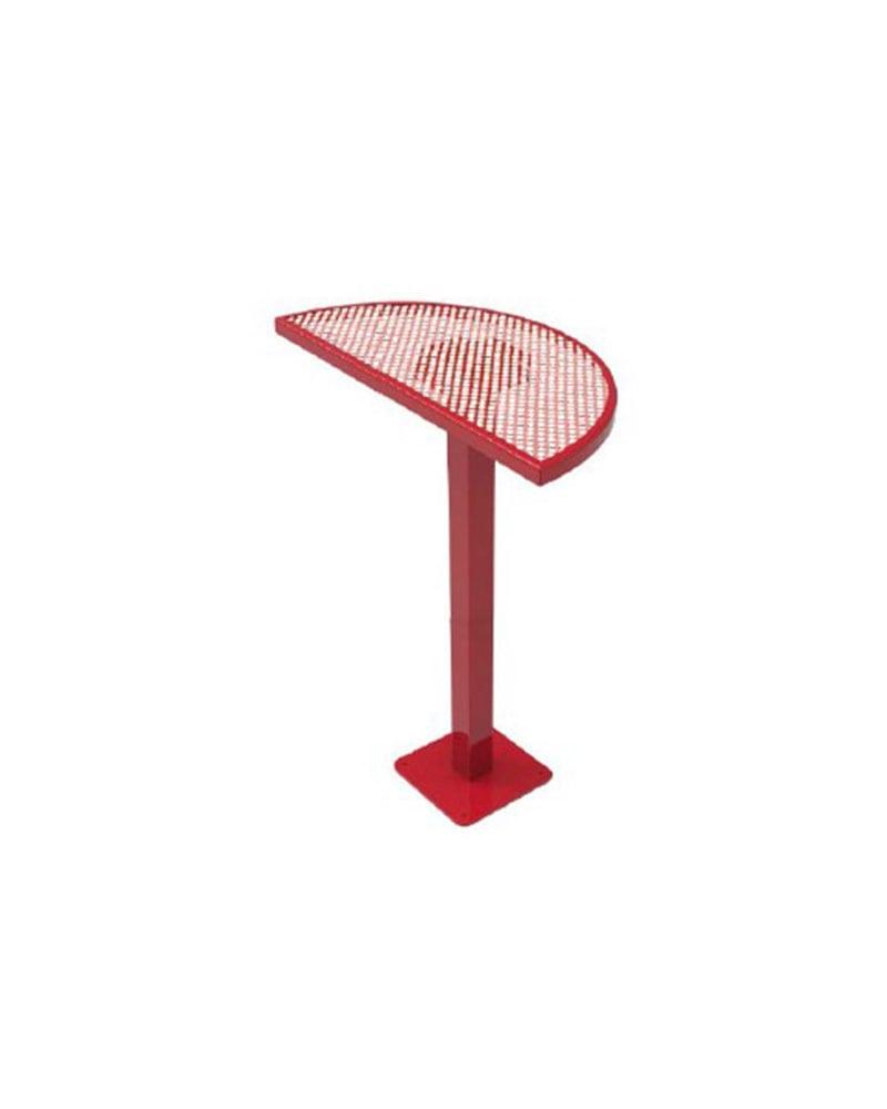 Half Round Series Picnic Table Metal Surface Mount Park - Metal base picnic table