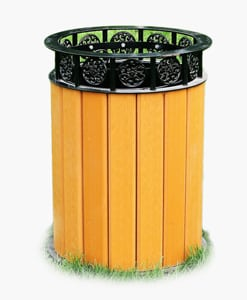 Recycled Plastic Trash Receptacles