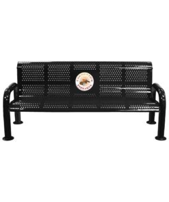 Awe Inspiring Punched Bench With Back Punched Steel Personalizable Gmtry Best Dining Table And Chair Ideas Images Gmtryco