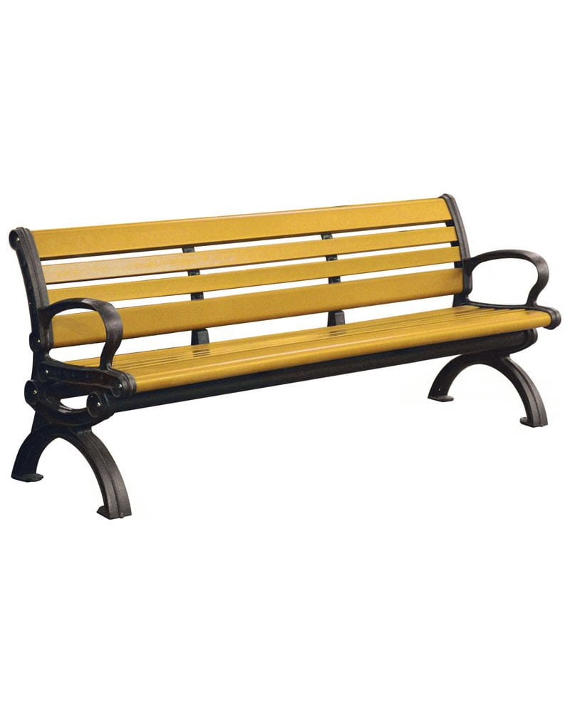 Swell 6Ft Victorian Style Bench With Back Recycled Plastic Machost Co Dining Chair Design Ideas Machostcouk