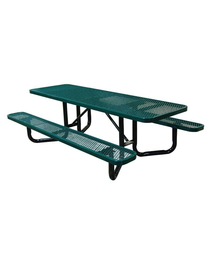 Ft YBase Picnic Table Rectangular Expanded Metal ADA - Metal base picnic table