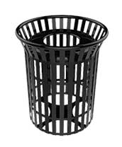 Round Trash Receptacles