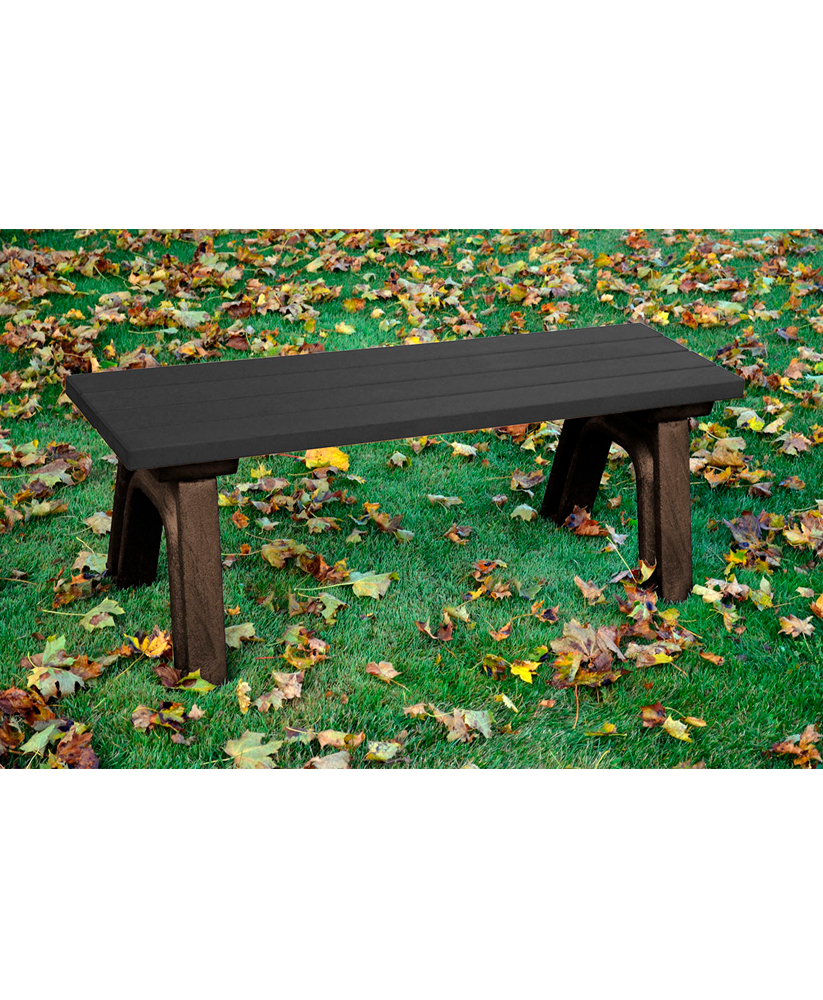 Deluxe Bench Backless Recycled Plastic Park Warehouse