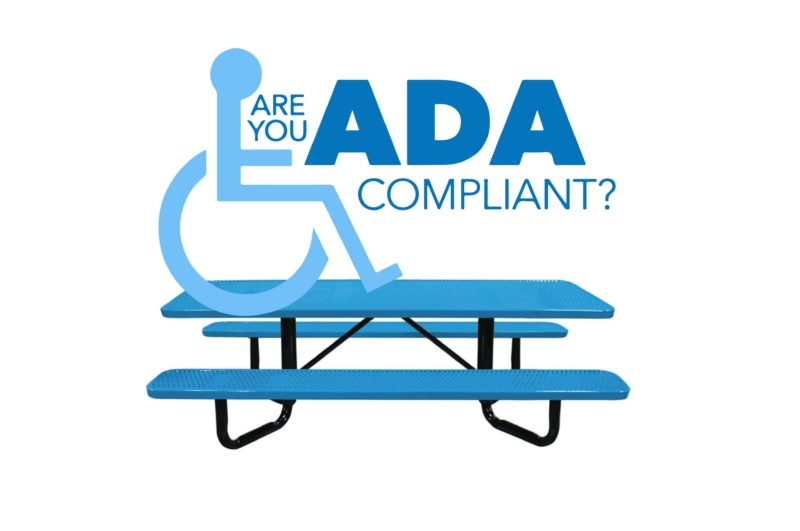 are your picnic tables ADA compliant?