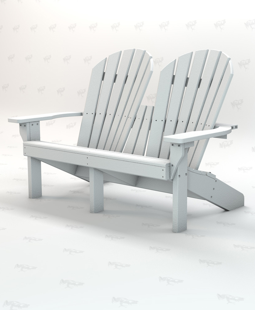 Excellent Riviera Series Adirondack Bench 2 Seat Recycled Plastic Park Warehouse Unemploymentrelief Wooden Chair Designs For Living Room Unemploymentrelieforg