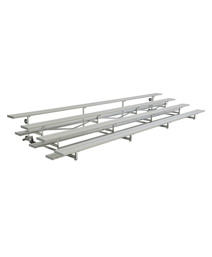 3 4 Row Tip Roll Aluminum Bleachers Low Rise Series Park Warehouse